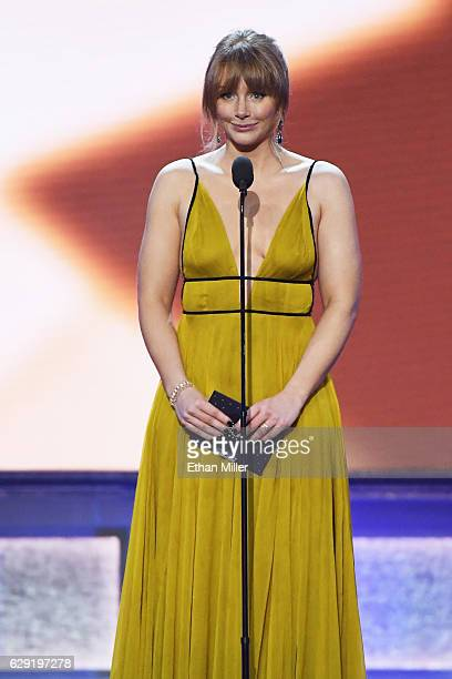 Actress Bryce Dallas Howard speaks onstage during the 22nd Annual Critics' Choice Awards at Barker Hangar on December 11 2016 in Santa Monica...