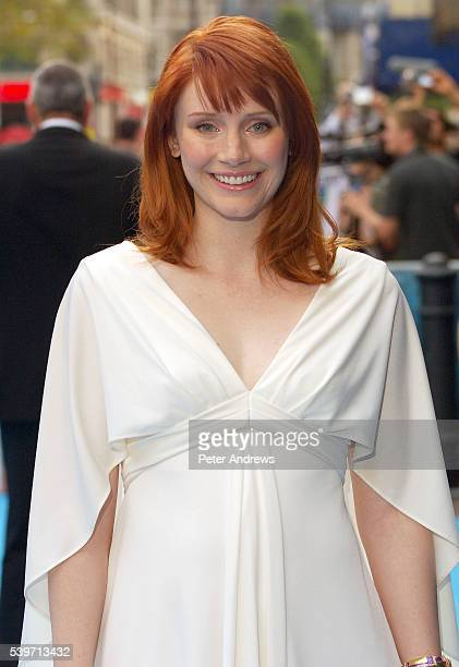 Actress Bryce Dallas Howard who announced her pregnancy today arrives at the European Premiere of 'Lady in the Water' in London