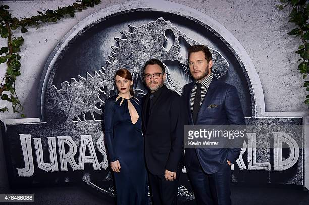 Actress Bryce Dallas Howard Writer/Director Colin Trevorrow and Chris Pratt attend the Universal Pictures' 'Jurassic World' premiere at the Dolby...
