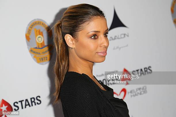Actress Brytni Sarpy arrive at the Los Angeles Police Memorial Foundation Celebrity Poker Tournament Party Arrivals at Avalon Hollywood on November...