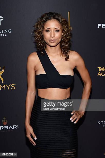 Actress Brytni Sarpy arrives at the Television Academy's Performers Peer Group Celebration at Montage Beverly Hills on August 22 2016 in Beverly...