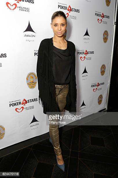 Actress Brytni Sarpy attends the Los Angeles Police Memorial Foundation Celebrity Poker Tournament and Party held at Avalon Hollywood on November 19...