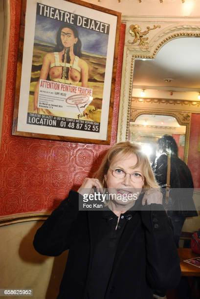 Actress Bulle Ogier attends Jean Pierre Kalfon ad P.I.B. Band Concert at Theatre Dejazet on March 27, 2017 in Paris, France.