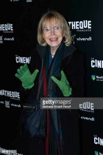 "Actress Bulle Ogier attends the ""Les Gardiennes"" Paris Premiere at la cinematheque on December 1, 2017 in Paris, France."
