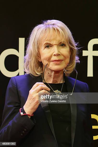 Actress Bulle Ogier attends the Pardo alla Carriera Award red carpet on August 10 2015 in Locarno Switzerland