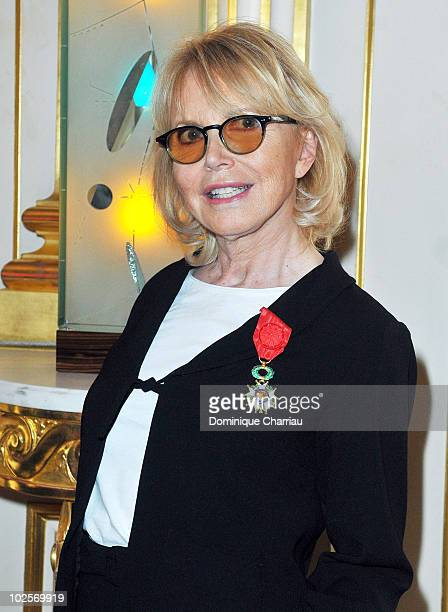 Actress Bulle Ogier receives decoration at the Ministry of Culture on July 1, 2010 in Paris, France.