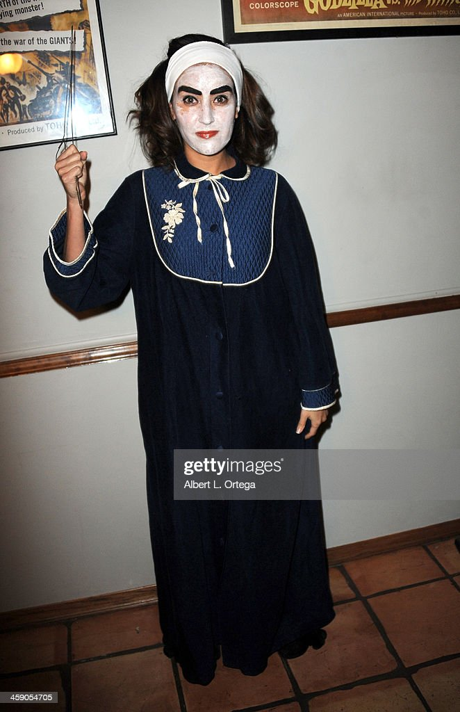 actress burgandi phoenix attends syfys monster man cleve a halls annual halloween party