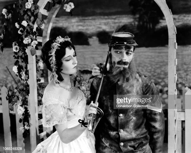 Actress Buster Keaton and Dorothy Sebastian in a scene from the movie Spite Marriage