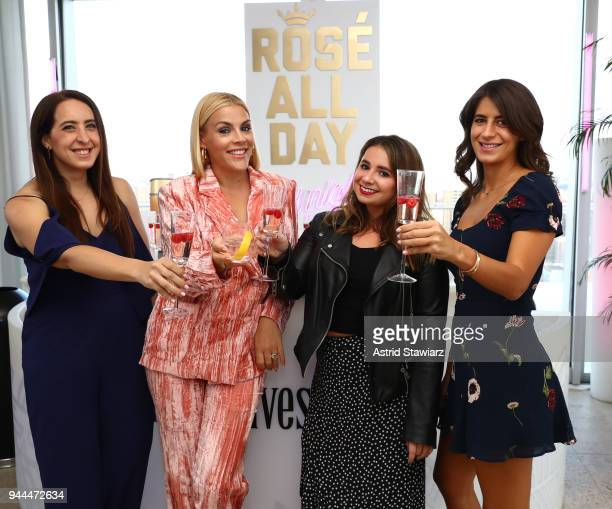 Actress Busy Philipps and Betches founders Samantha Fishbein Aleen Kuperman Jordana Abraham Kick off summer at Three Olives Rosé Vodka Party at The...