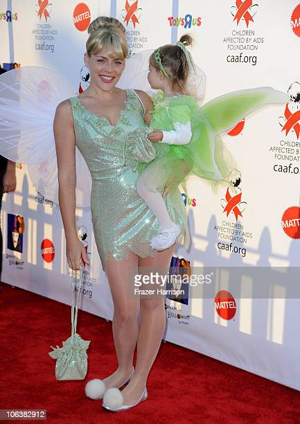 Actress Busy Philipps and daughter Birdie Leigh Silverstein arrives at the Children Affected By AIDS Foundation's 17th Annual Dream Halloween event...