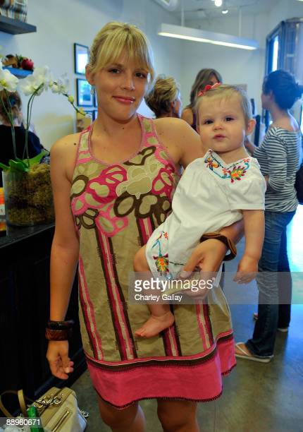Actress Busy Philipps and daughter Birdie Leigh Silverstein attend Little Seed's Private Label Launch sponsored by Weleda at The Little Seed Store on...
