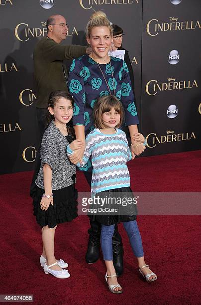 Actress Busy Philipps and daughter Birdie Silverstein arrive at the World Premiere of Disney's Cinderella at the El Capitan Theatre on March 1 2015...