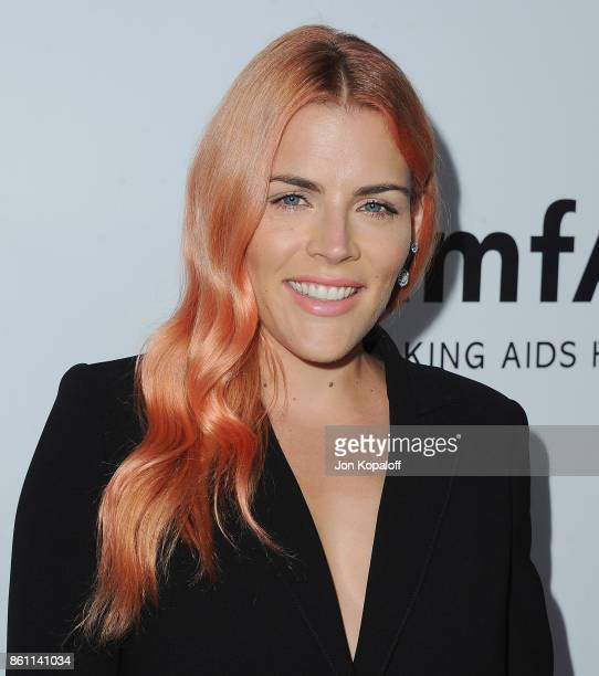 Actress Busy Philipps arrives at amfAR Los Angeles 2017 at Ron Burkleâs Green Acres Estate on October 13, 2017 in Beverly Hills, Californi