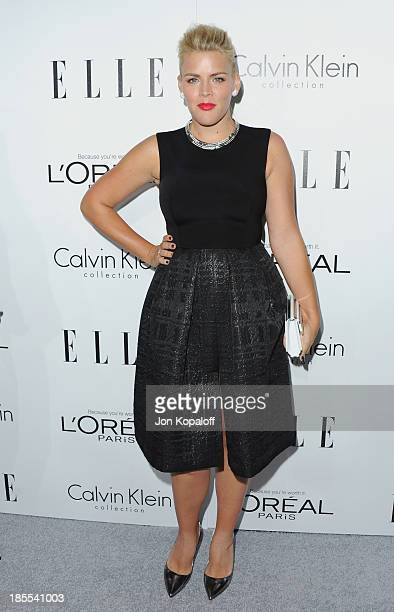 Actress Busy Philipps arrives at ELLE Celebrates 20th Annual Women In Hollywood Event at Four Seasons Hotel Los Angeles at Beverly Hills on October...