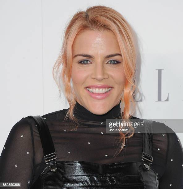 Actress Busy Philipps arrives at ELLE's 24th Annual Women in Hollywood Celebration at Four Seasons Hotel Los Angeles at Beverly Hills on October 16...