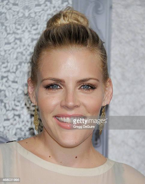 Actress Busy Philipps arrives at the Family Equality Council's Annual Los Angeles Awards Dinner at The Globe Theatre on February 8 2014 in Universal...