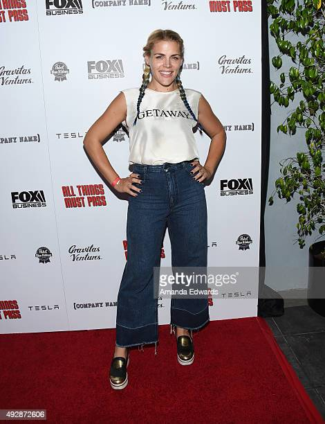Actress Busy Philipps arrives at the premiere of Gravitas Ventures' 'All Things Must Pass' at the Harmony Gold Theatre on October 15 2015 in Los...