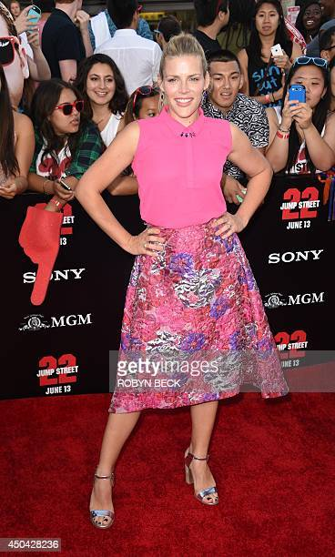 Actress Busy Philipps arrives for the world premiere of '22 Jump Street' at the Regency Village Theatre in Los Angeles California June 10 2014 AFP...