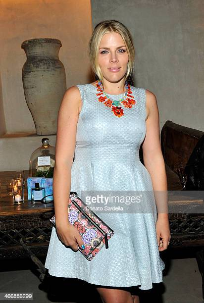 Actress Busy Philipps attends a cocktail party to celebrate the debut fragrance by Irene Neuwirth hosted by Barneys New York on February 4 2014 in...
