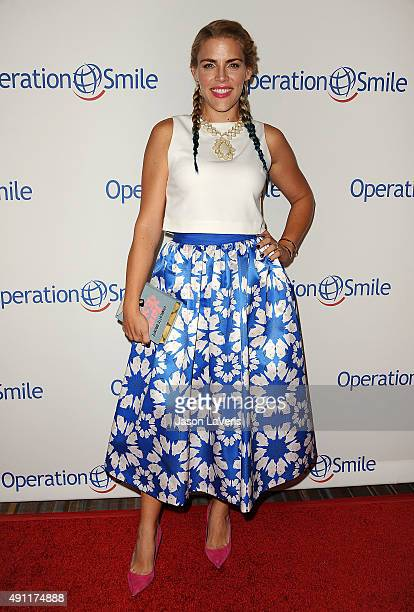 Actress Busy Philipps attends Operation Smile's 2015 Smile Gala at the Beverly Wilshire Four Seasons Hotel on October 2 2015 in Beverly Hills...