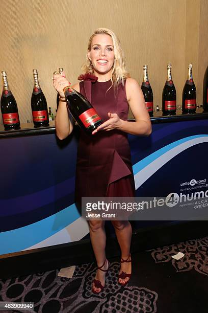 Actress Busy Philipps attends the 2nd Annual unite4humanity presented by ALCATEL ONETOUCH at the Beverly Hilton Hotel on February 19 2015 in Los...