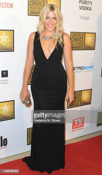 Actress Busy Philipps attends the Broadcast Television Journalists Association Second Annual Critics' Choice Awards at The Beverly Hilton Hotel on...