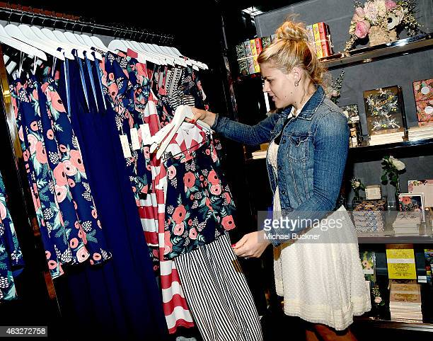 Actress Busy Philipps attends the Paper Crown Rifle Paper Co PopUp Shop With Lauren Conrad and Anna Bond At The Grove at The Grove on February 12...