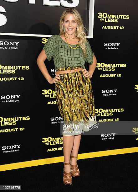 Actress Busy Philipps attends the premiere of 30 Minutes or Less at Grauman's Chinese Theatre on August 8 2011 in Hollywood California
