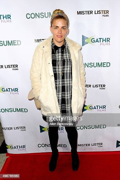 Actress Busy Philipps attends the premiere of Mister Lister Film's Consumed at Laemmle Music Hall on November 11 2015 in Beverly Hills California