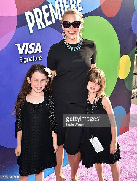Actress Busy Philipps Birdie Leigh Silverstein and a guest attend the Los Angeles premiere of DisneyPixar's Inside Out at the El Capitan Theatre on...