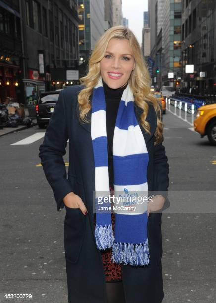 Actress Busy Philipps hits the streets of New York City to spread holiday cheer and to talk to visitors about their messy holiday moments for...