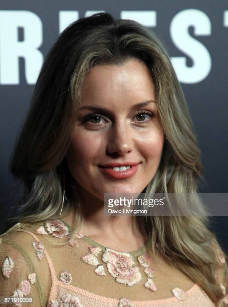 Actress Caggie Dunlop attends the premiere of Focus Features' 'Darkest Hour' at the Samuel Goldwyn Theater on November 8 2017 in Beverly Hills...