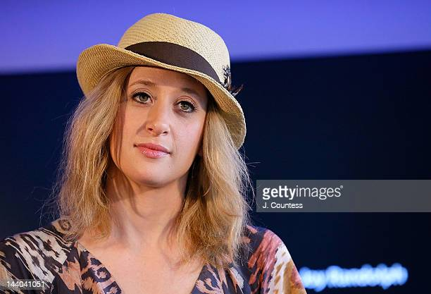Actress Caissie Levy of Ghost the Musical onstage during a QA at the Apple Store West 14th Street on May 8 2012 in New York City