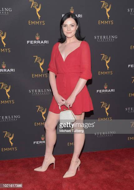 Actress Cait Fairbanks attends the Television Academy's Daytime Programming Peer Group Reception at Saban Media Center on August 22 2018 in North...