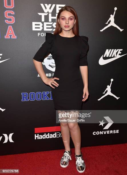 Actress Caitlin Carmichael attends ROOKIE USA Fashion Show at Milk Studios on February 15 2018 in Los Angeles California