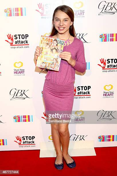 Actress Caitlin Carmichael attends the GBK Stop Attack Pre Kids Choice Gift Lounge at The Redbury Hotel on March 26 2015 in Hollywood California