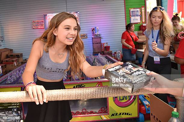 Actress Caitlin Carmichael attends the Mattel Party On The Pier at Santa Monica Pier on September 27 2015 in Santa Monica California