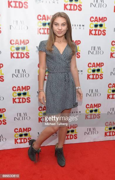 Actress Caitlin Carmichael attends the premiere of Vision Films' 'Camp Cool Kids' at AMC Universal City Walk on June 21 2017 in Universal City...