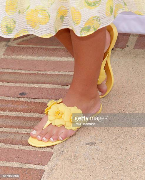 Actress Caitlin Carmichael shoe detail attends the 6th Annual LA Loves Alex's Lemonade at UCLA on September 12 2015 in Los Angeles California