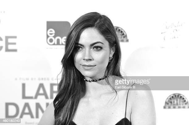 Actress Caitlin Carver attends the Los Angeles Premiere of the film Lap Dance at ArcLight Cinemas on December 8 2014 in Hollywood California