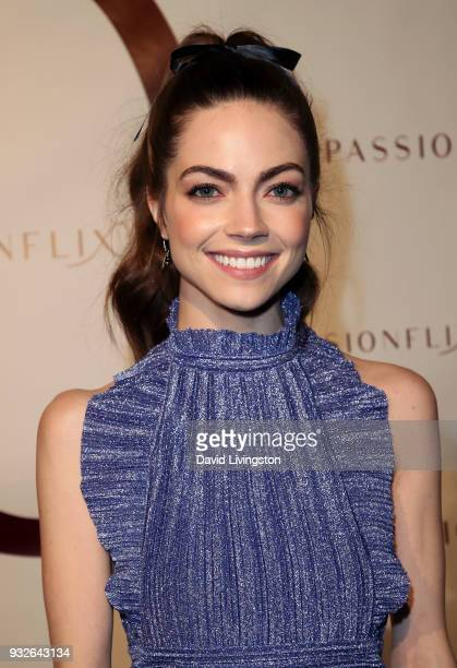 Actress Caitlin Carver attends the world premiere of 'The Matchmaker's Playbook' at the Charlie Chaplin Theatre on March 15 2018 in Los Angeles...