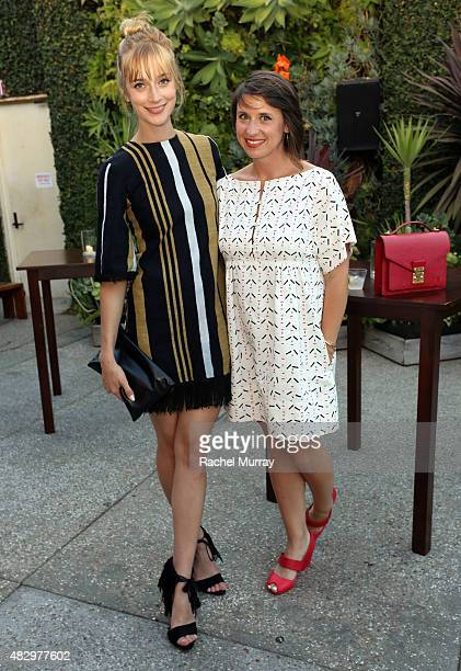 Actress Caitlin Fitzgerald and IVY Film Innovator Award winner Emily Best attend the IVY Film Innovator Awards presented by Cadillac on August 4 2015...