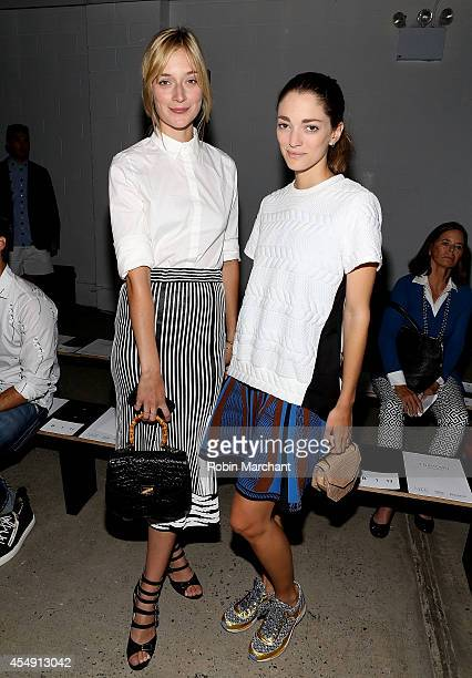 Actress Caitlin Fitzgerald and Sofia Sanchez Barrenechea attend Thakoon during MercedesBenz Fashion Week Spring 2015 at on September 7 2014 in New...