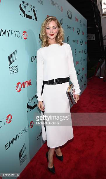 Actress Caitlin FitzGerald arrive at the screening of Showtime and Sony Pictures Television's Masters Of Sex at the Cary Grant Theater on May 5 2015...
