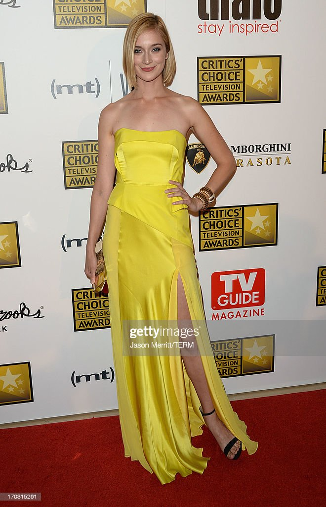 Actress Caitlin FitzGerald arrives at Broadcast Television Journalists Association's third annual Critics' Choice Television Awards at The Beverly Hilton Hotel on June 10, 2013 in Beverly Hills, California.