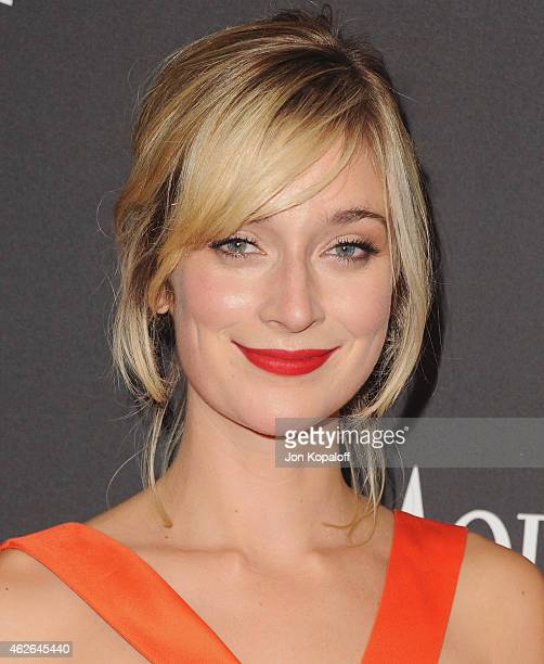 Actress Caitlin FitzGerald arrives at the 16th Annual Warner Bros And InStyle PostGolden Globe Party at The Beverly Hilton Hotel on January 11 2015...
