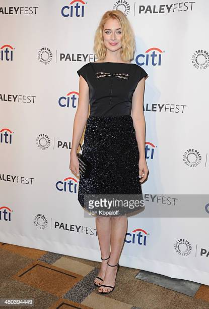 "Actress Caitlin FitzGerald arrives at the 2014 PaleyFest - ""Masters Of Sex"" at Dolby Theatre on March 24, 2014 in Hollywood, California."