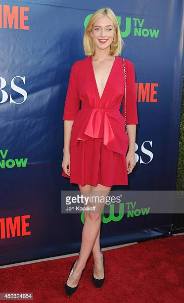Actress Caitlin FitzGerald arrives at the CBS The CW Showtime CBS Television Distribution 2014 Television Critics Association Summer Press Tour at...