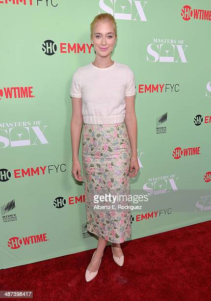 Actress Caitlin Fitzgerald arrives to an exclusive conversation with the cast of Showtime's Masters Of Sex at Leonard H Goldenson Theatre on April 29...