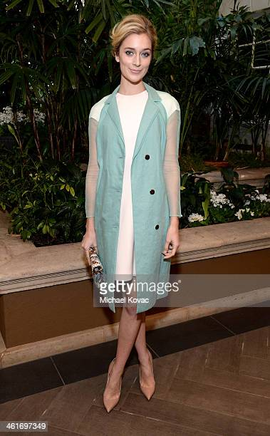 Actress Caitlin FitzGerald attends the 14th annual AFI Awards Luncheon at the Four Seasons Hotel Beverly Hills on January 10 2014 in Beverly Hills...